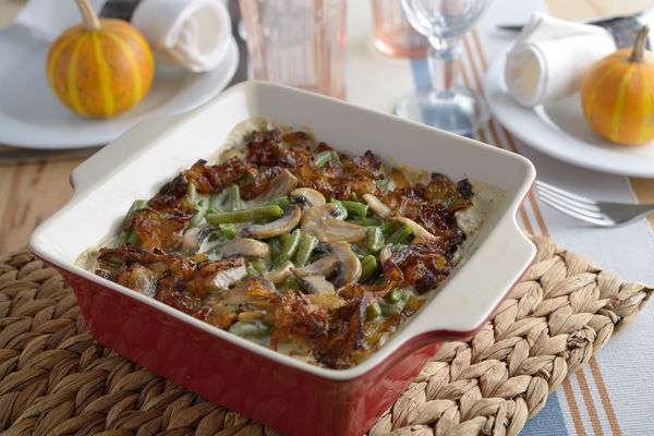 Side Dish Recipe: Green Bean Casserole with Mushrooms & Caramelized Onions