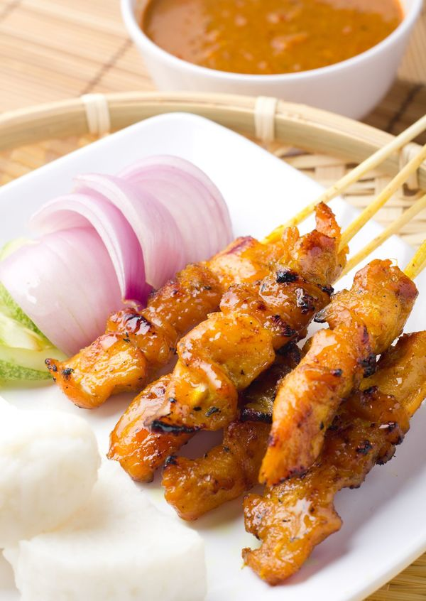 how to make thai satay chicken skewers