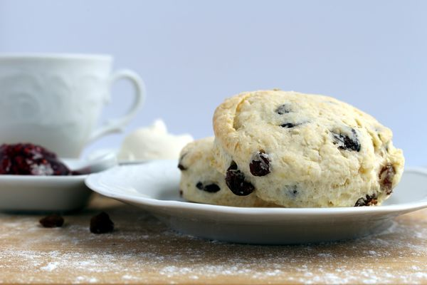 English Tea Recipe: Buttery Raisin Scones