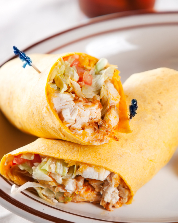 Sandwich Recipe: Buffalo Chicken Salad Wrap