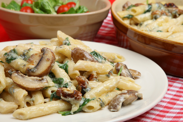 Pasta Recipe Creamy Penne Florentine With Mushrooms And Spinach