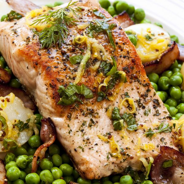 Seafood Recipe: Lemon And Herb Roasted Salmon With Potatoes