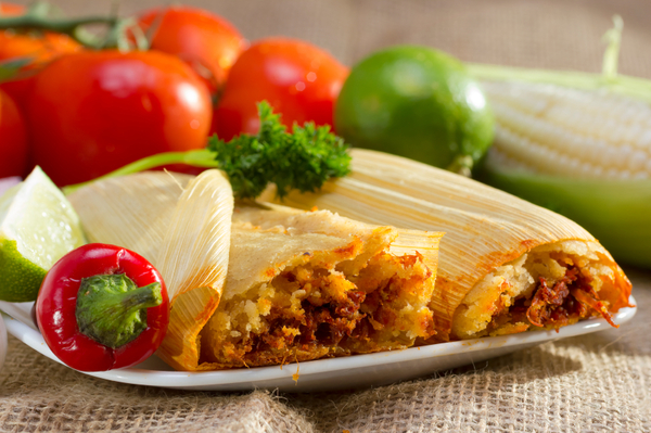 Mexican Recipe: Corn Husk-Wrapped Tangy Tamales