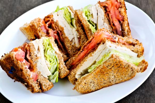 Sandwich Recipe: Stacked Turkey, Tomato & Bacon Club