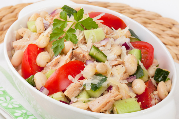 Light Salad Recipe: Tuna, White Bean & Cucumber Salad – 12 Tomatoes
