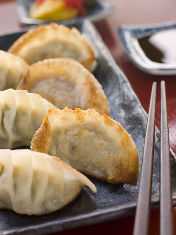 Asian Recipe: Fried Pork & Shrimp Potstickers
