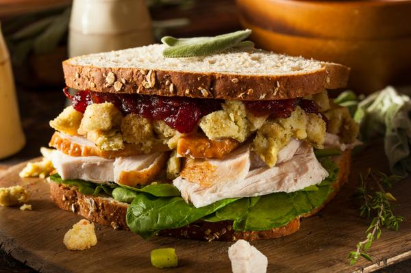 Turkey Recipe: Chilled Thanksgiving Spread Stuffed Sandwich