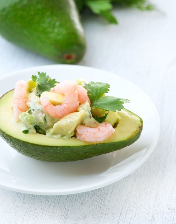 Appetizer Recipe: Avocado Bowls with Shrimp & Mango