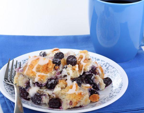 Dessert Recipe: Sticky Sweet Lemon Blueberry Bread Pudding
