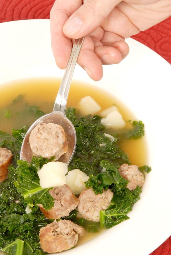 Soup Recipe: Easy Kale, Sausage – 12 Tomatoes