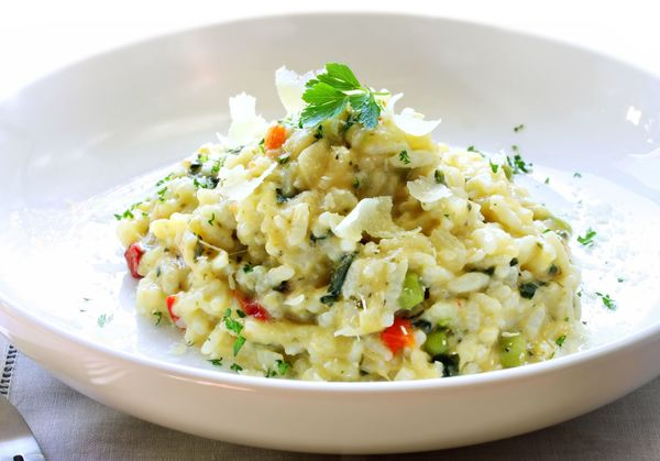 vegetarian recipe creamy veggie risotto 12 tomatoes. Black Bedroom Furniture Sets. Home Design Ideas