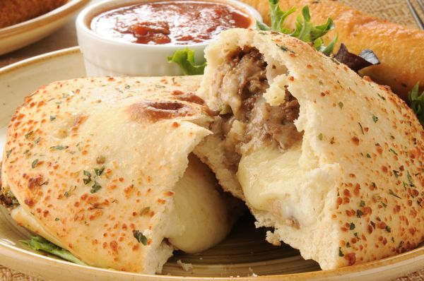 Tasty Pizza Recipe: Philly Cheesesteak Calzone