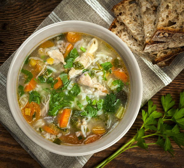 Rice and chicken soup recipes easy