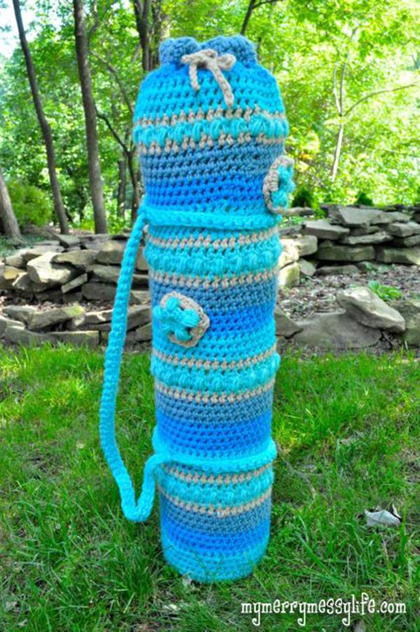 Yoga Enthusiast? Learn How To Crochet A Yoga Mat Bag!