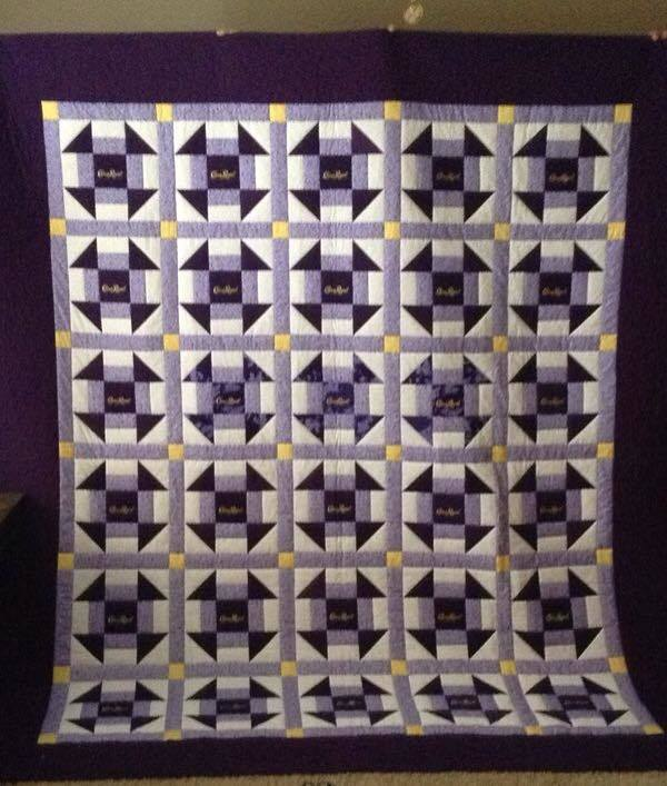 These Recycled Crown Royal Bags Turned Into Some Beautiful Quilts ... : crown royal quilt pictures - Adamdwight.com