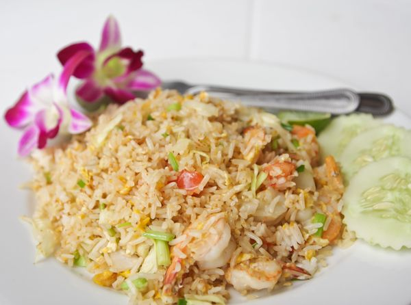 Lightened Up Asian Recipe: Healthy Shrimp Fried Rice