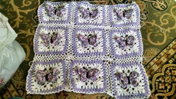 5 beautiful patterns perfect for spring starting chain from linda m toth my current wip butterfly kisses blanket httpcraftsypatterncrochetingaccessorybutterfly kisses baby afghan65432 dt1010fo