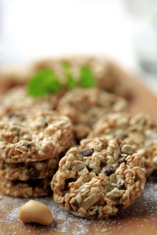Vegan Cookie Recipe: Healthy Rolled Oats Oatmeal Nut Cookies