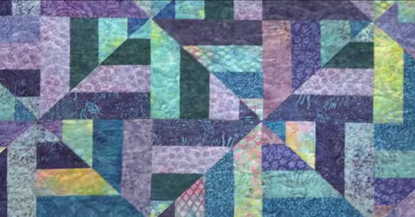 Colorful And Beautiful Pattern - Learn How To Make A Cool Water Quilt!