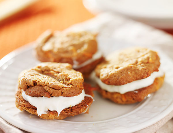 The Perfect Treat For Spring: Cream Cheese Frosting-Filled Carrot Cake Cookies