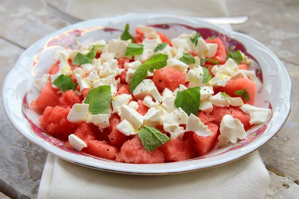 The Perfect Warm Weather Salad: Watermelon And Crumbled Feta Salad