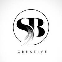 86109135 stock vector sb brush stroke letter logo design black paint logo leters icon with elegant circle vector design