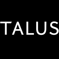 Talus logo white on black