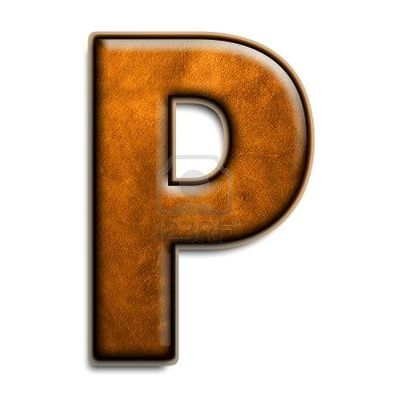 2816541 individual isolated letter p in brown leather 3d series,14107,0