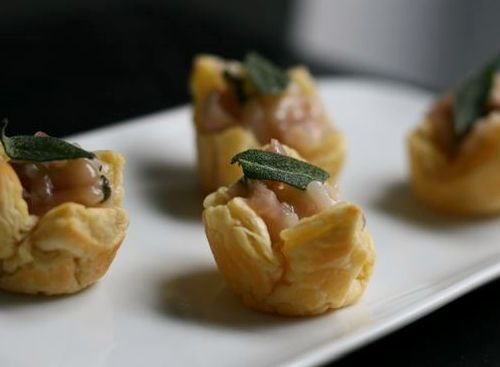 Sage and Onion Risotto Cups