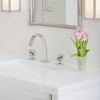 Aqueduct with molecule knob basin set on modern counter 1