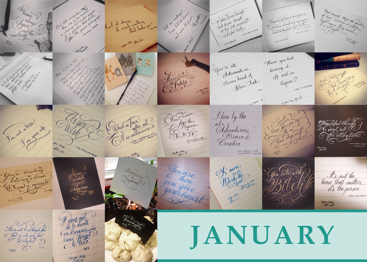 365 Days of Calligraphy: January