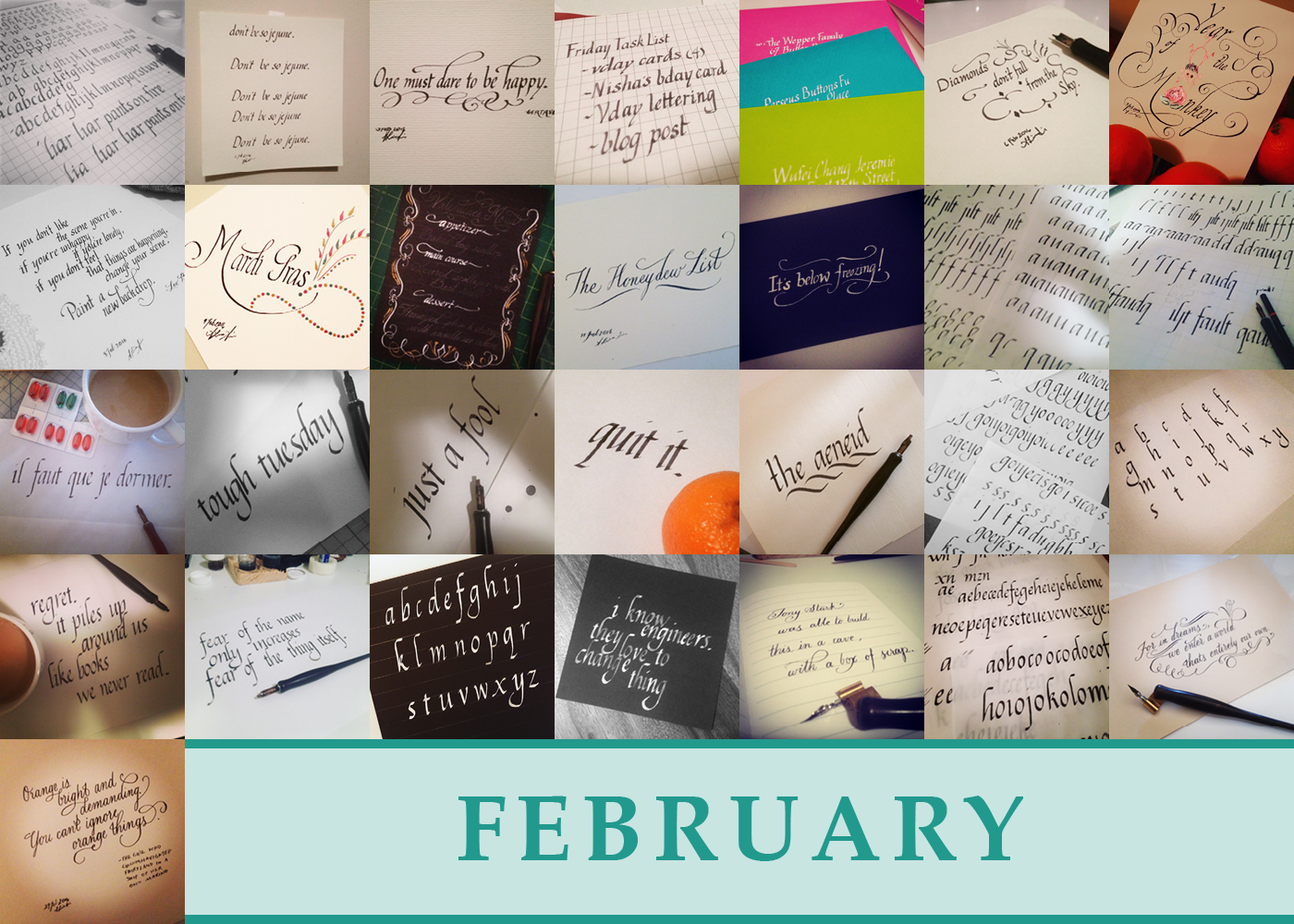 365 Days of Calligraphy: February