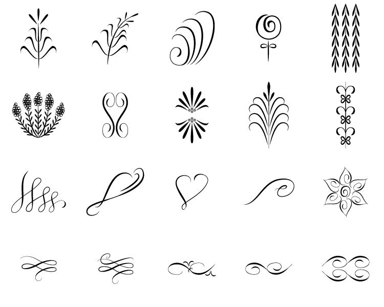 Simple flourish vector png pixshark images