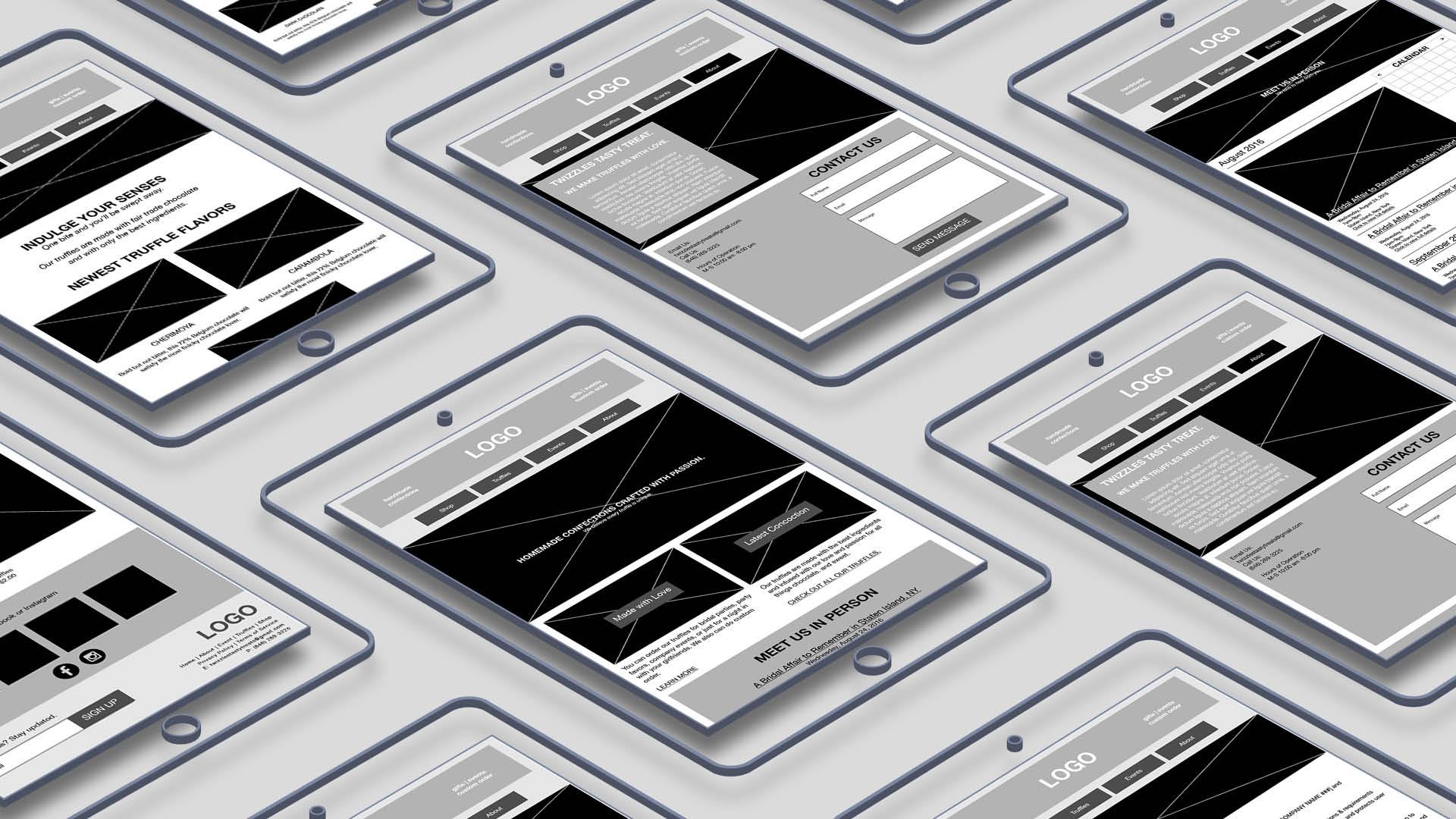 Twizzles Tasty Treats Wireframe Tablet