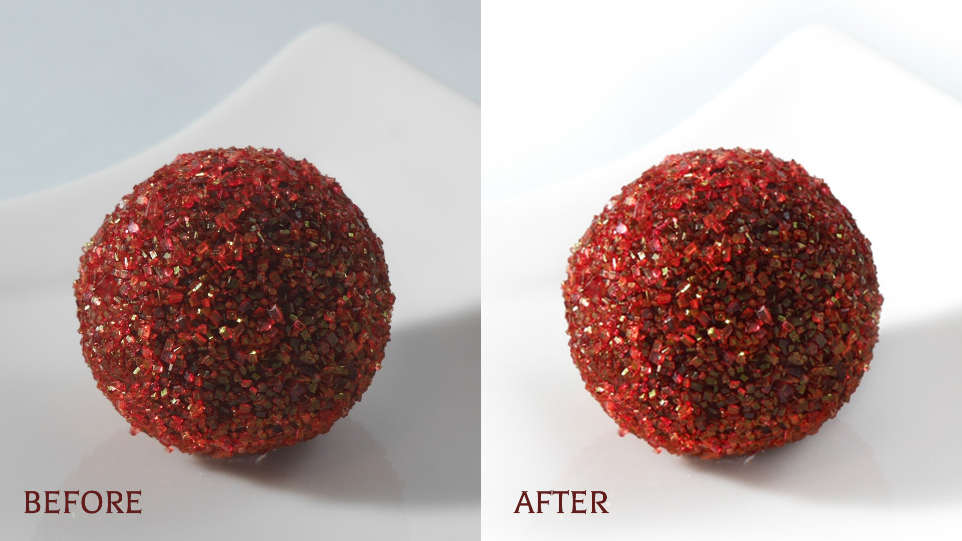 Truffle photo edit before and after