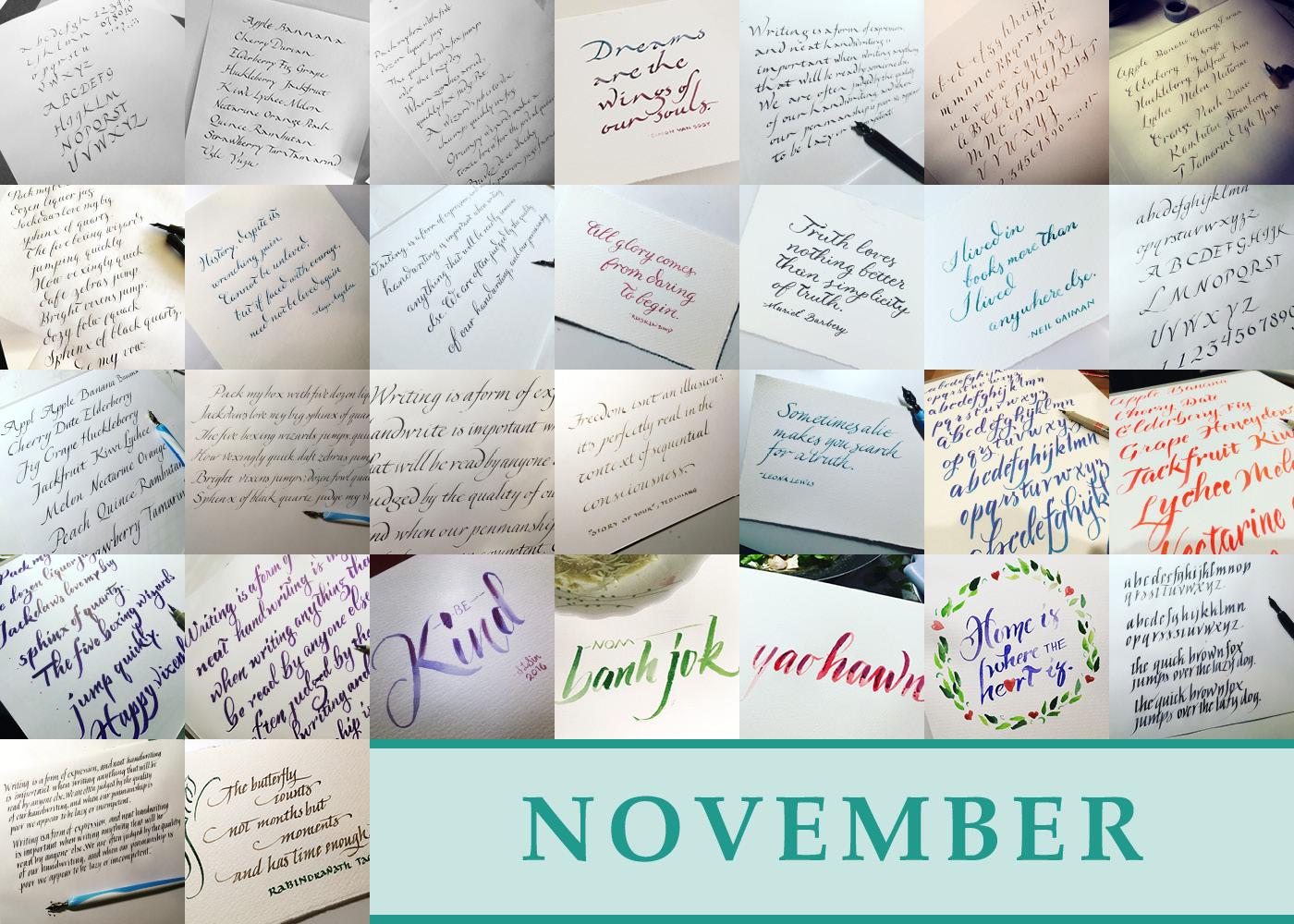 365 Days of Calligraphy: November