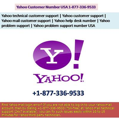 Yahoo Tech Support Number @ 1 (877) 336 9533