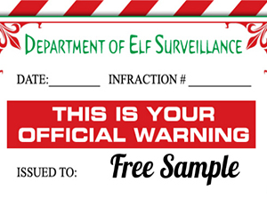 Free-Elf-Warning-Letter
