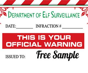 Free-Elf-Warning-Letter