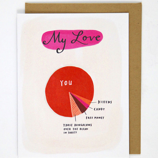 Hilariously Honest Valentines Day Cards ShareYourFreebies - Hilariously honest pie charts