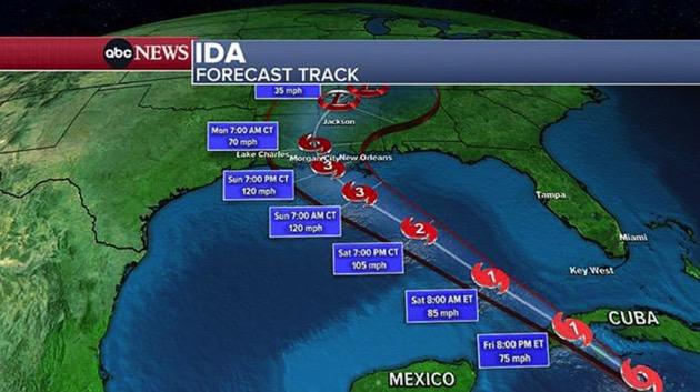 Ida expected to be major hurricane at Louisiana landfall: Latest forecast