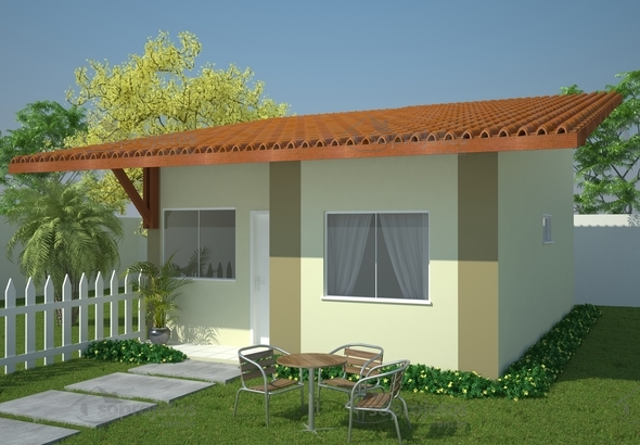 Planta de casa projeto de casa popular econ mica c d 101 so projetos - Minibar da casa ...