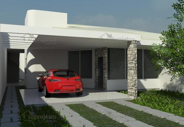Planta de casa ampla casa t rrea com varanda gourmet c d for Casa moderna 4 parte 3