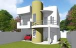 Planta de casa amplo moderno