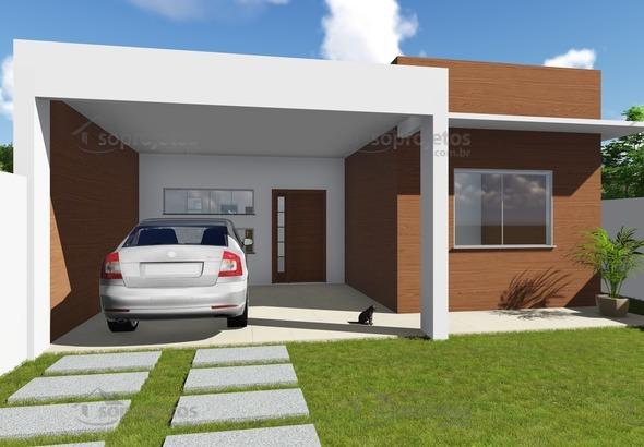 Modelo de casa do c d 99 com fachada moderna for Casa moderna 99 arena