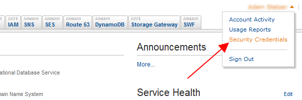 Amazon Web Services Security Credentials