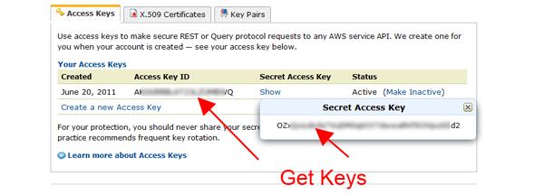 Amazon SES Keys