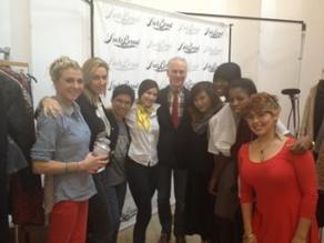 The amazingly talented Tim Gunn with the Gigi Creative Talent team at the Lucky Brand fashion show
