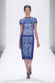 #1 EMBROIDERED LACE CAP SLEEVE SHEATH DRESS