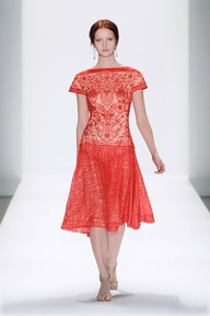 #2 EMBROIDERED LACE CAP SLEEVE PLEATED FULL SKIRT DRESS